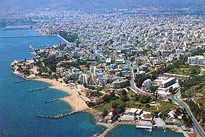 View of Volos from the air
