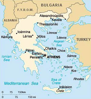 General map of Greece